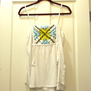 Pretty, spring/summery top - beaded